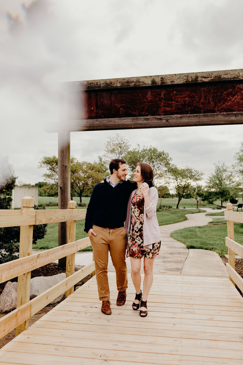 Coxhall Gardens engagement session, Indianapolis engagement photographer