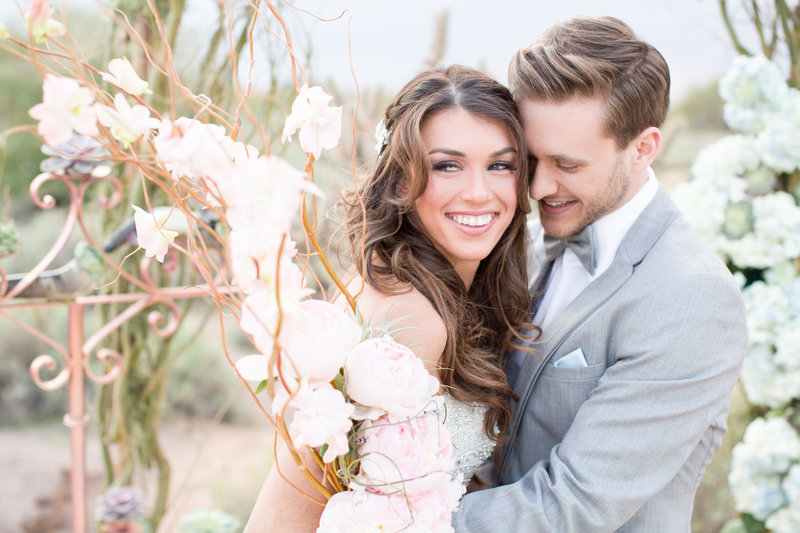 Romantic Blush Arizona Desert Oasis Wedding | Amy & Jordan Photography