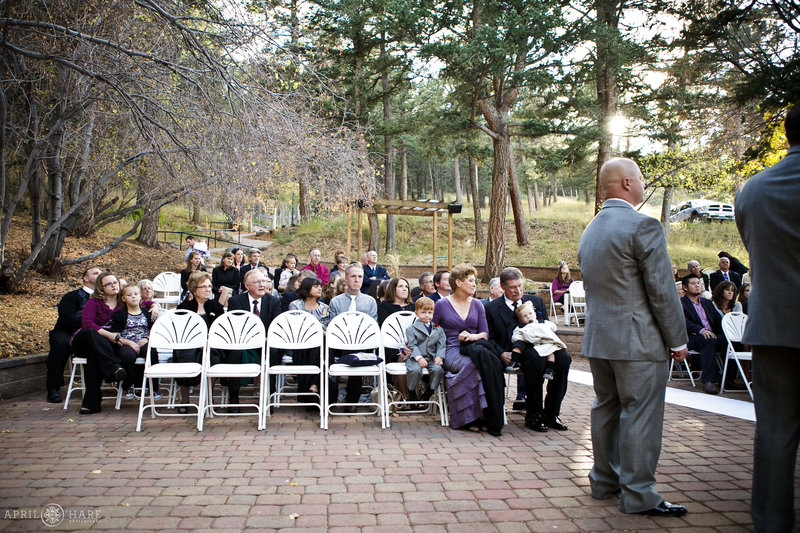 Fall Wedding on the Aspen Terrace at Pines at Genesee