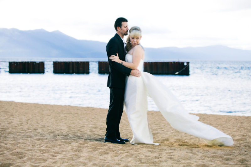 Bride and Groom Lake Tahoe