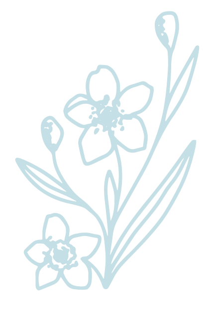 Branded Floral Graphic Element in blue