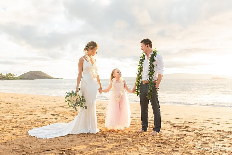 Maui beach wedding venue Po'olenalena Beach