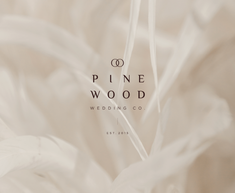 Primary logo design for Pinewood Wedding Co., a high end boutique wedding planner.