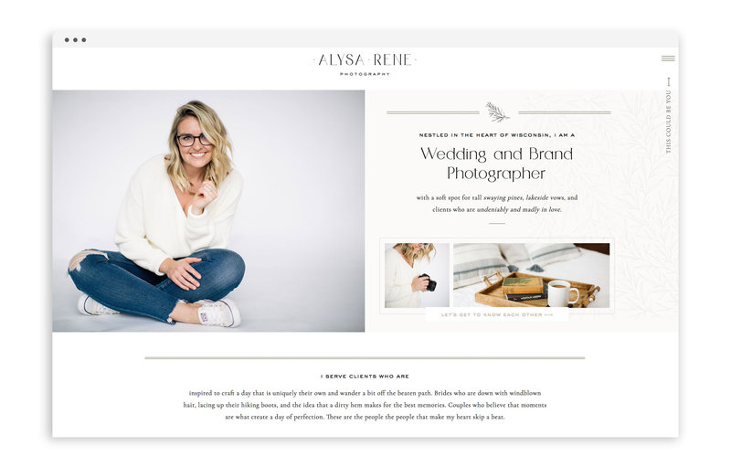 Alysa Rene Photography - Custom Brand and Showit Web Design Website by With Grace and Gold - Photo - 28