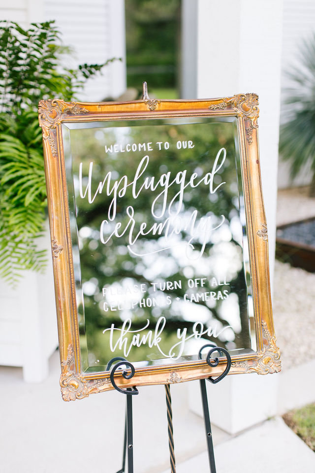 Wedding unplugged sign
