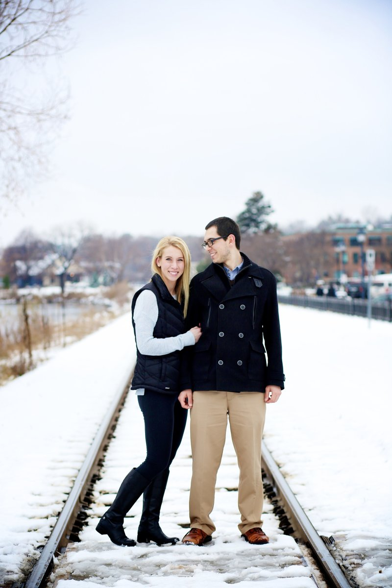 Casual Minnesota Winter Engagement Session
