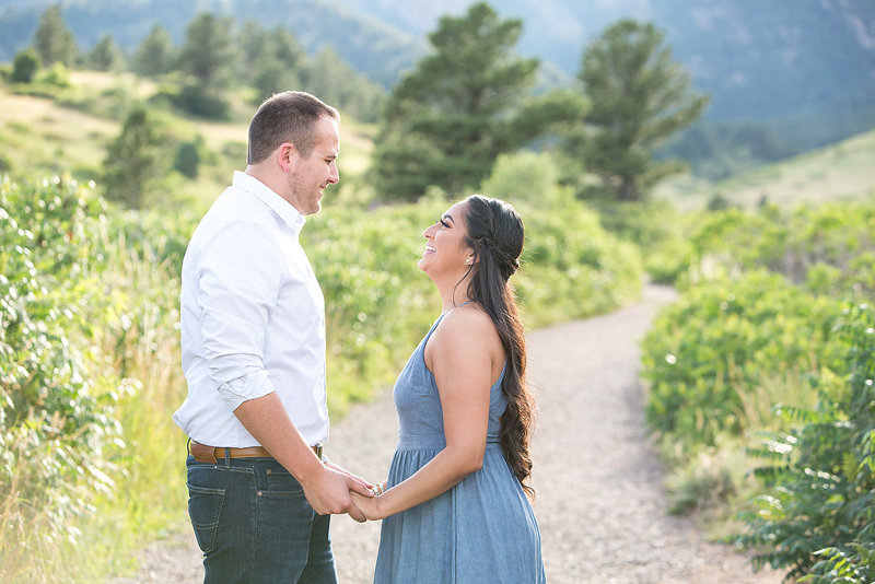 Engagement photographers Boulder CO - Celina & Aaron at South Mesa Trailhead
