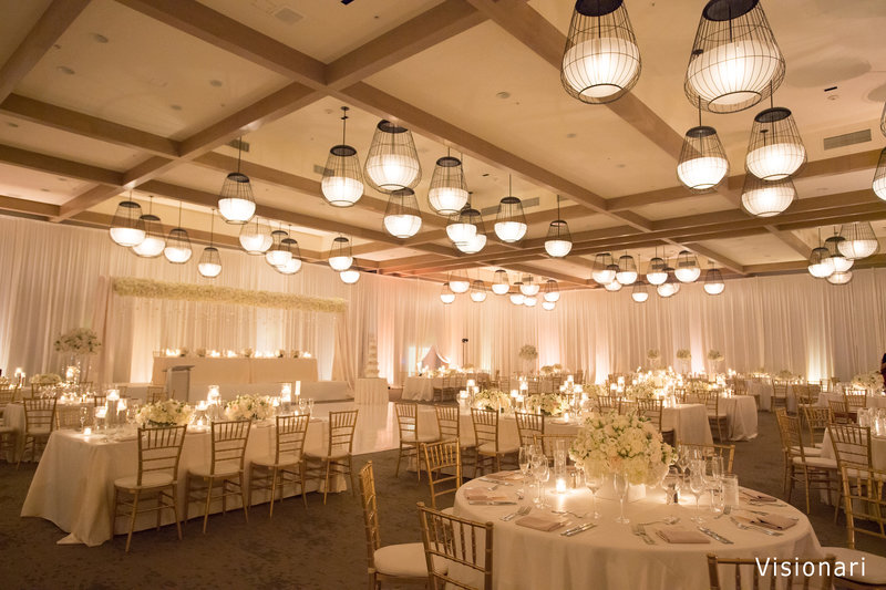 WM pipe and drape wedding reception