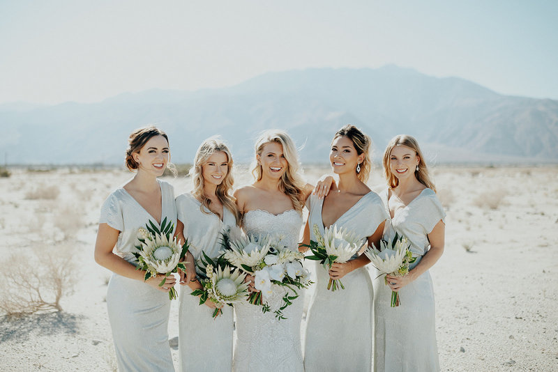 Modern Palm Springs wedding day