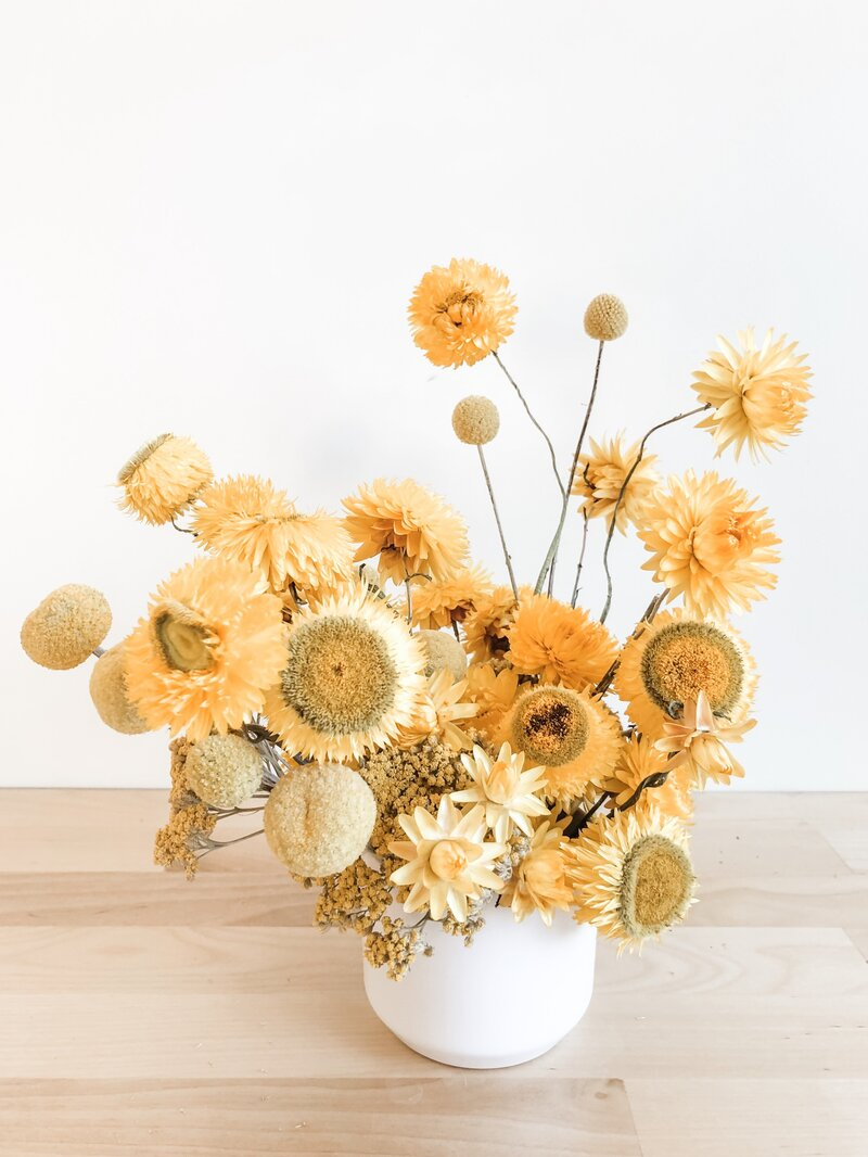 north-scottsdale-florist-mustard-love-dried-arrangement