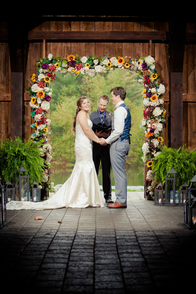 Rustic Country Wedding Alter