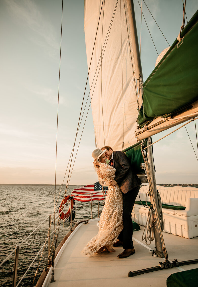 Adventure Elopement Sailboat Ocean Sunset 5