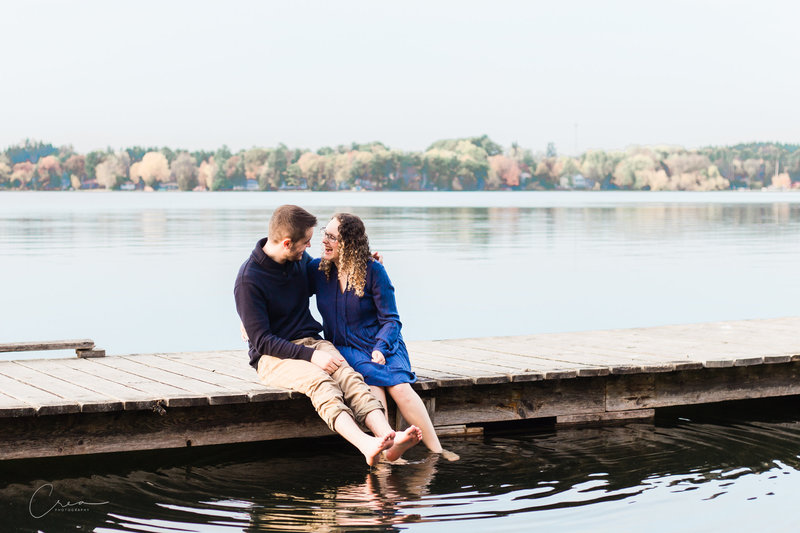 bass lake orillia at the water engagement photo