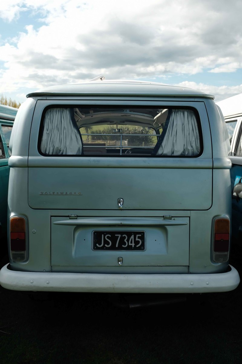 Back view of Stella, kombi camper van from NZ Kombi Hire, Invercargill, New Zealand