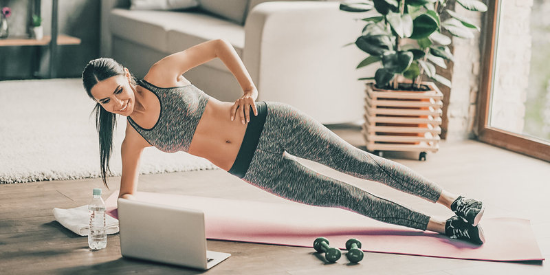 A fit and feelgood home workout