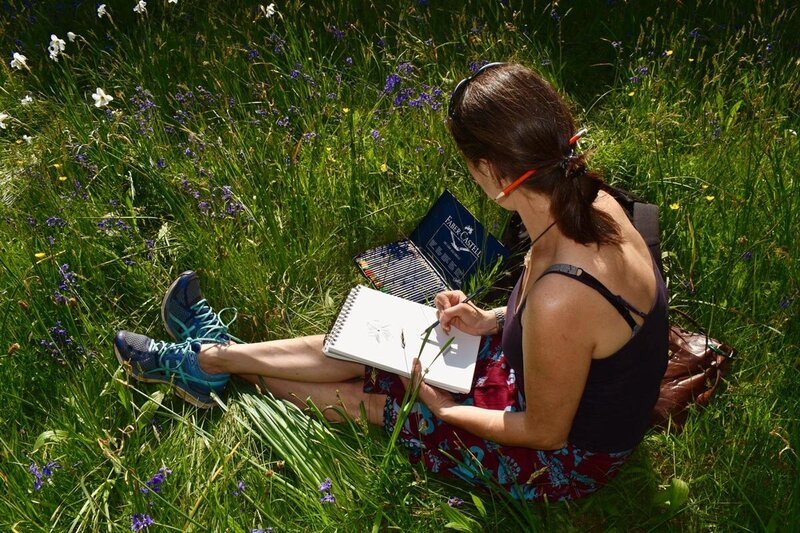 Naturopathy student studying at Kew Gardens in London