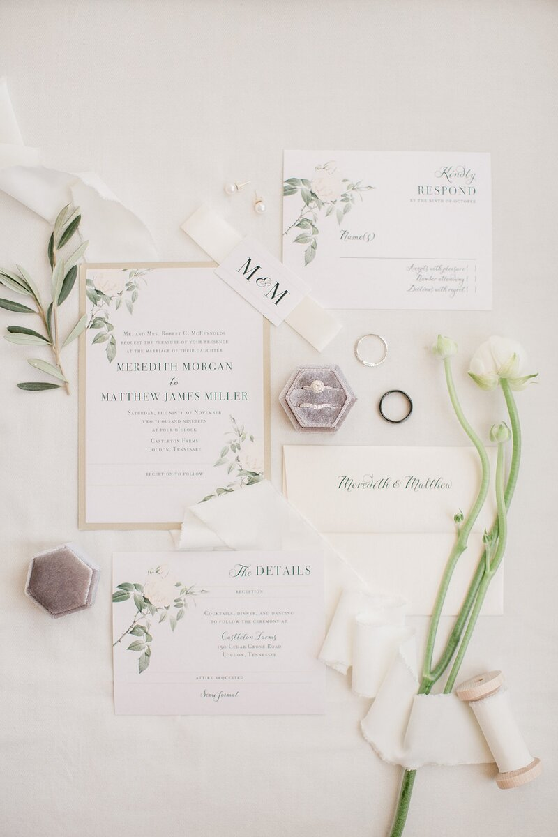 Invitation suite by Knoxville Wedding Photographer Amanda May Photos