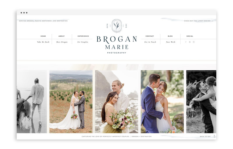 Brogan Marie Photography - Custom Brand and Showit Web Design by With Grace and Gold - Branding and Web Design for Photographers - 1