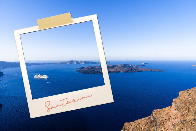 View of ocean in Santorini - luxury travel blogger