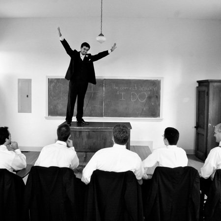 Wedding embraces movie reference from Dead Poets Society, and brags on their wedding photographer with a grand review