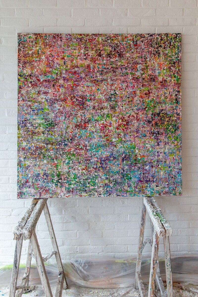 (SOLD) SUMMER - 120 x 120 cm - COLLECTION COLOURS