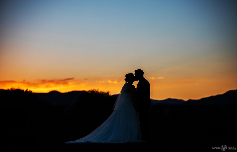 Wedding silhouette Portrait at The Barn at Raccoon Creek