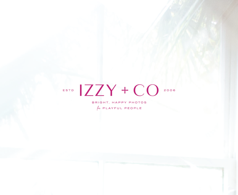 Primary logo and tagline for Savannah based wedding photographer, Izzy & Co.