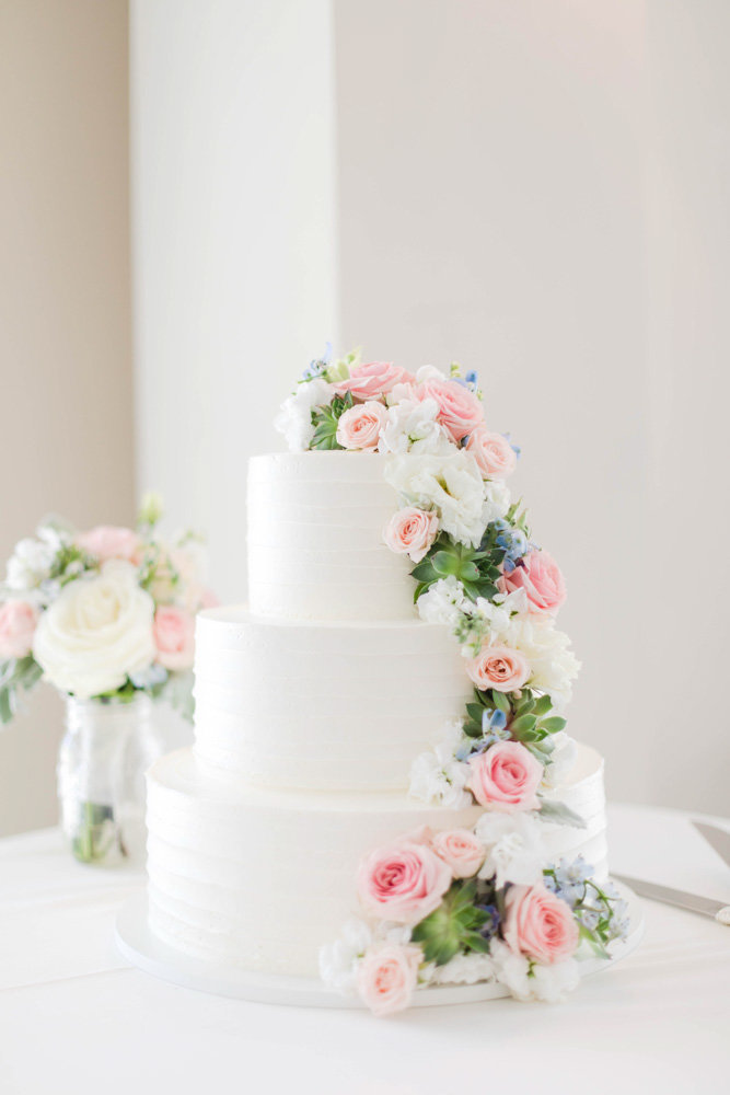 simple succulent cake at springfield manor winery and distillery wedding by costola photography