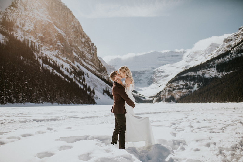 Lake Louise Banff Winter Wedding