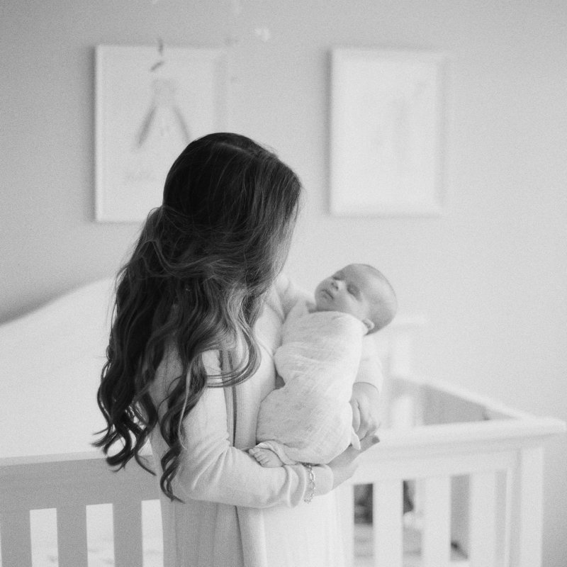In Home Newborn Photography on Black and White film in Pittsburgh and Portland Maine by Tiffany Farley