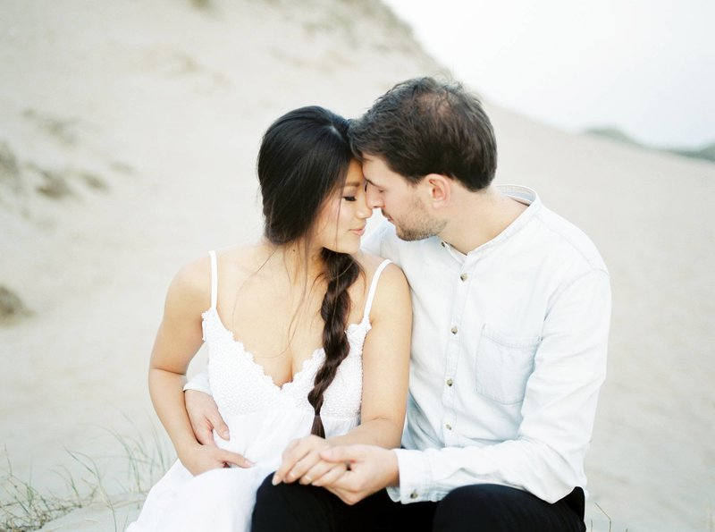 Lin & Marijn | engagement session photography at the beach the netherlands10