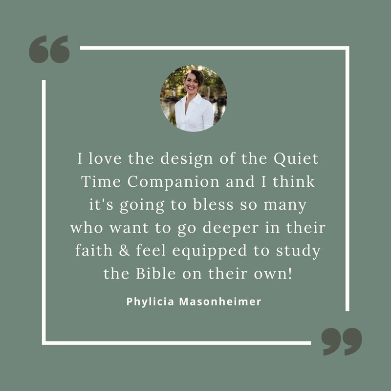 I love the Quiet Time Companion because it enables me to keep everything I need in one beautiful and accessible place.-2