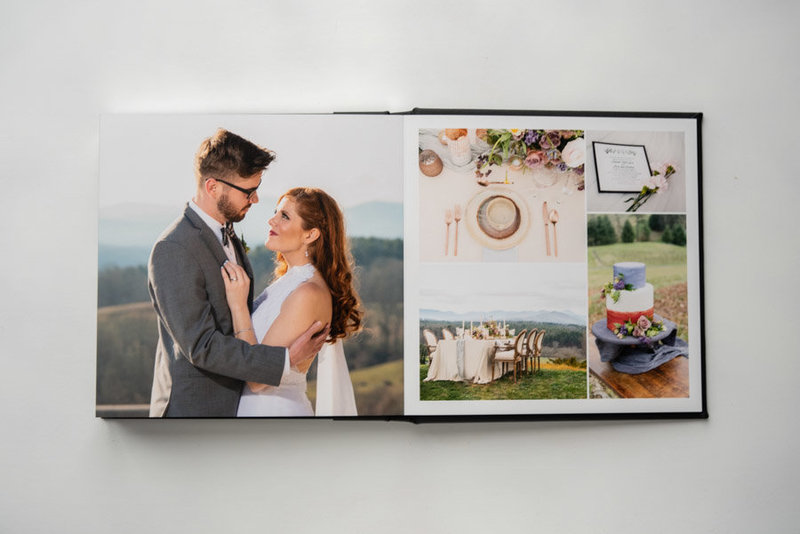 wedding album, wedding book, guest book, Asheville wedding, Asheville wedding photographer, Photography product, Amanda Lunsford photography-37