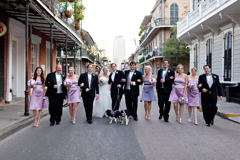 Wedding Party in the street of New Orleans