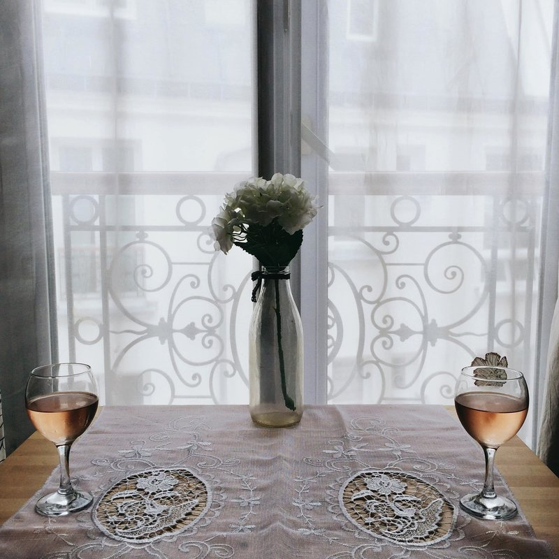 Chelsea Loren Parisian Apartment with Rose Wine French Girl Aesthetic Instagram