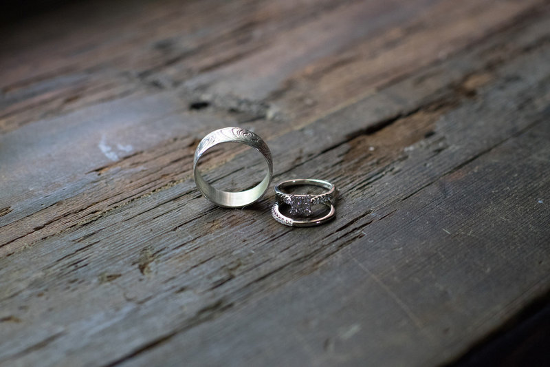 wedding ring detail shot