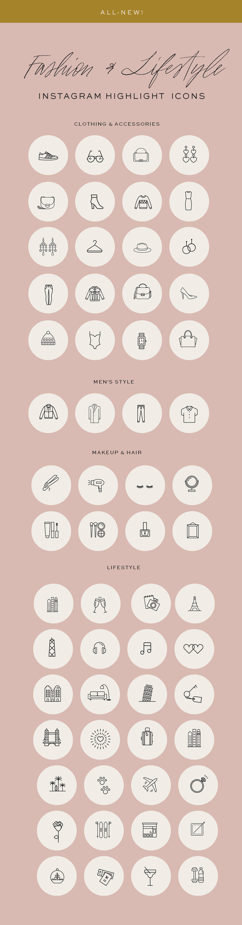 Fashion Influencer Instagram Icon Pack 2