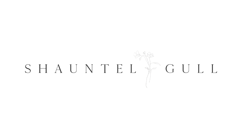 Shauntel Gull Logo - Horizontal with Single Flower