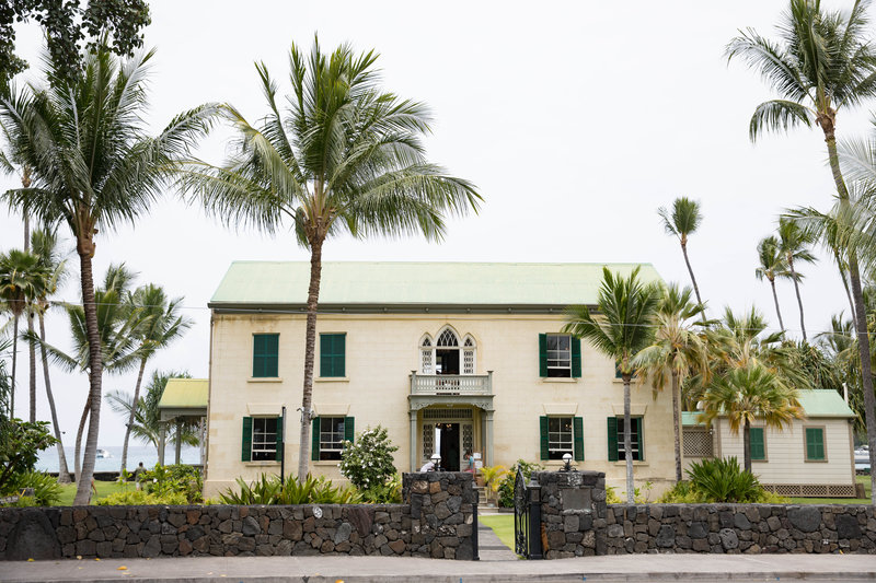 oceanfront wedding location Kona historic