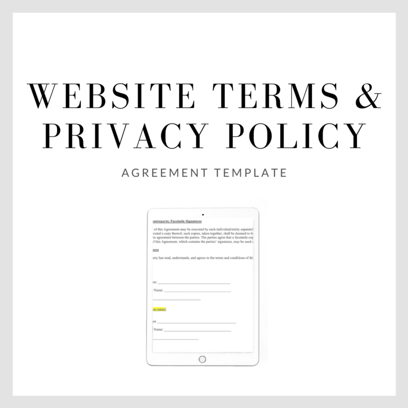 Website Terms, Conditions, & Privacy Policy Template