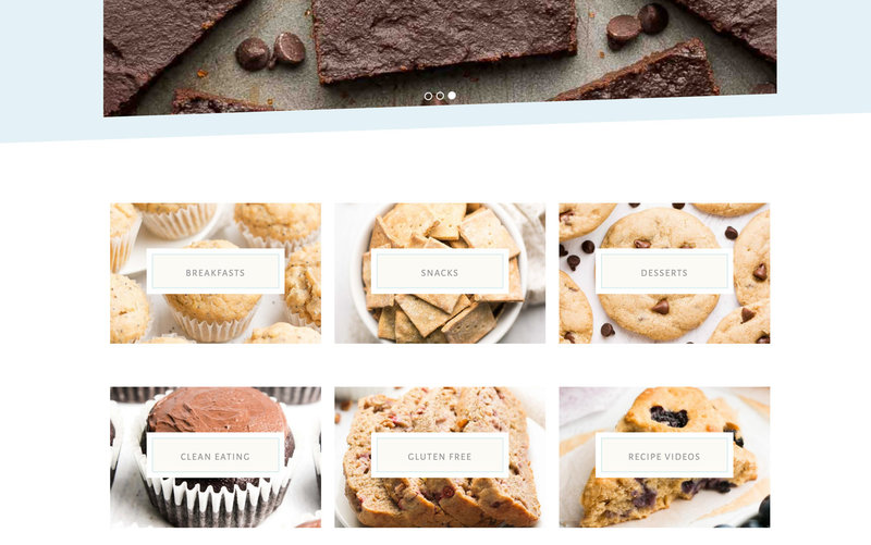Handcrafting Heartfelt Brand & Website Designs for Female Creatives |  Showit | Showit Templates | by Viva la Violet | Amy's Healthy Baking