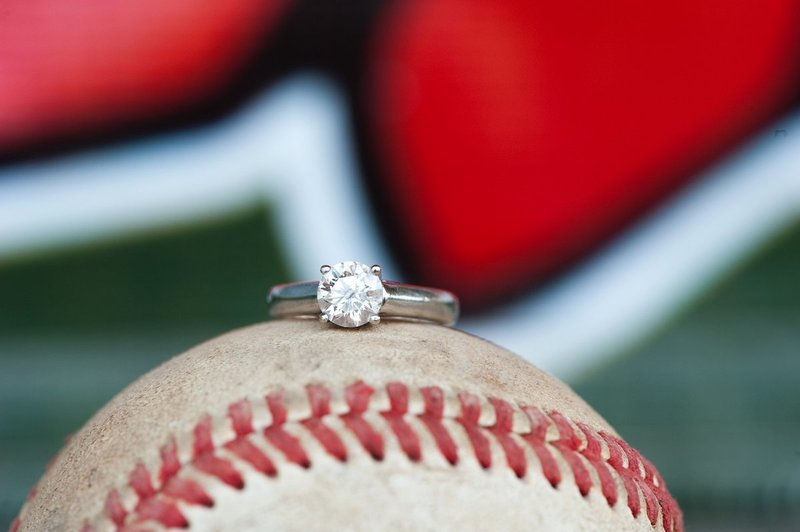 Fargo Red Hawks Engagement session at the stadium by kris kandel (6)