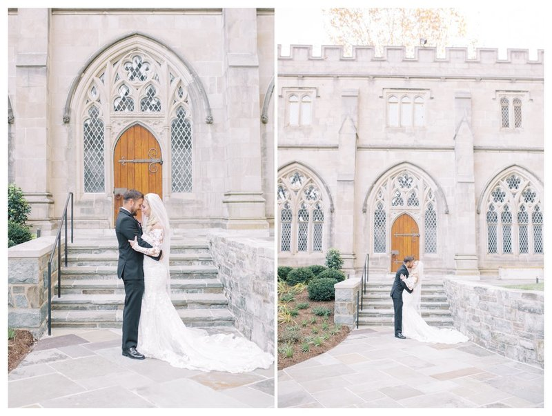 Bride and Groom portraits at the National Cathedral.