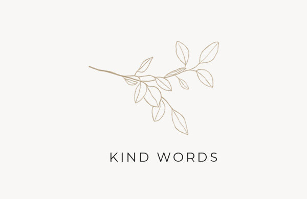 KIND WORDS HEADER