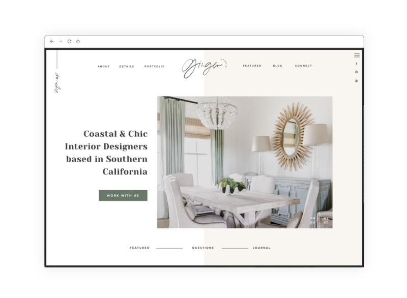 Creative & Sophisticated Website Template for Interior Designers