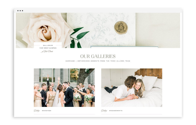 Trish Allison Photography - Web Design for Photographers by With Grace and Gold - Luxury Website, Classic Website, Polished Website - 3