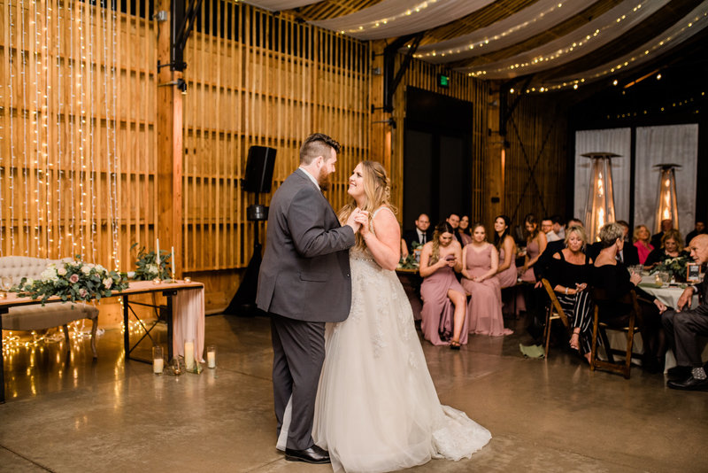 first dance at reception at The Paseo in Arizona