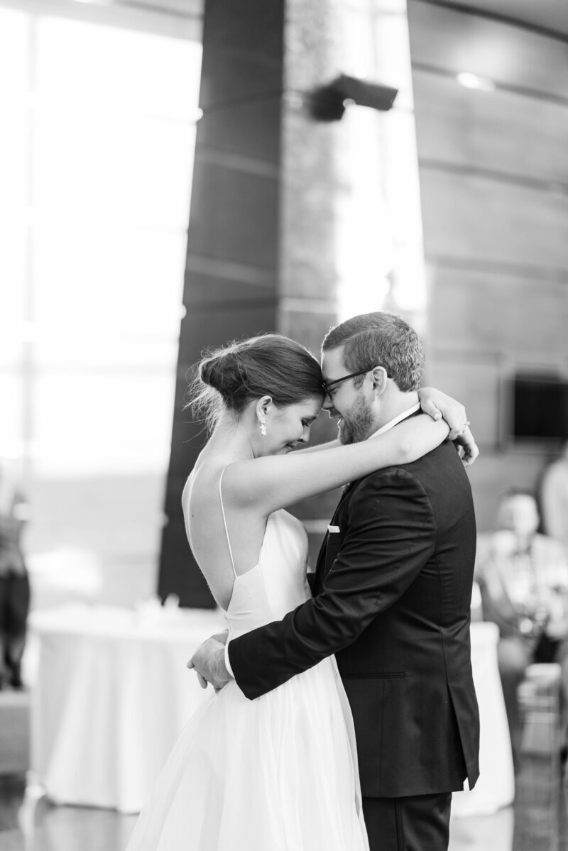 Sweet couple shares their first dance in front of loved ones