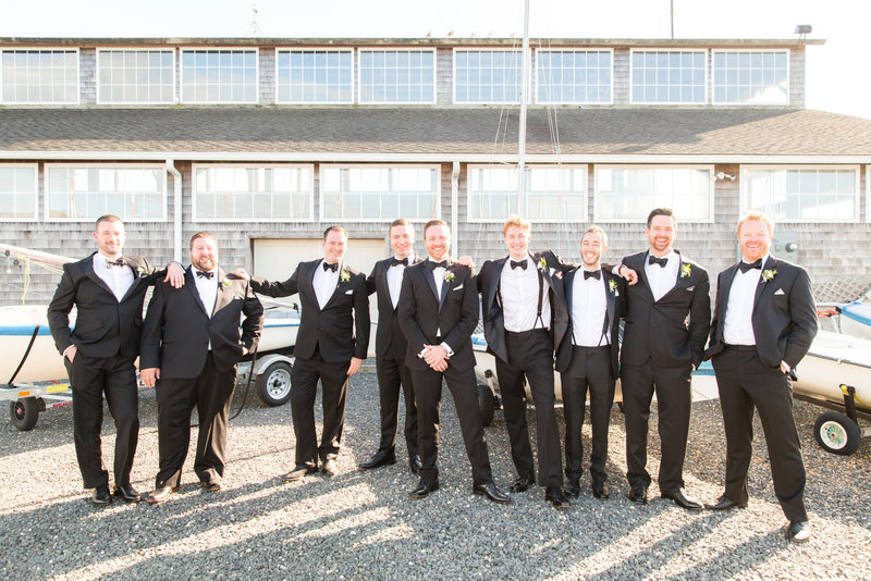 Groomsmen photo at Bay Head Yacht Club Wedding Venue at the Jersey Shore