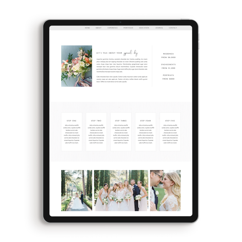 showit template for film photographers